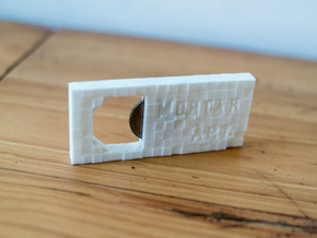 Mortar Art official coin Bottle Opener in White Natural Versatile Plastic