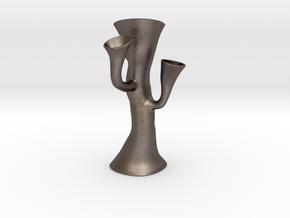 Alien Vase in Polished Bronzed Silver Steel