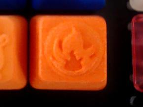 Pokemon Fire Type Cherry MX Keycap in Orange Processed Versatile Plastic
