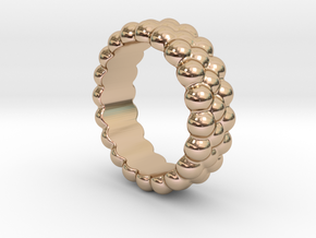 RING BUBBLES 23 - ITALIAN SIZE 23 in 14k Rose Gold Plated Brass