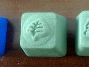 Pokemon Grass Type Cherry MX Keycap in Green Processed Versatile Plastic