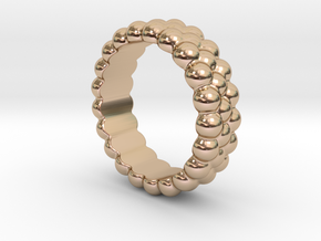 RING BUBBLES 26 - ITALIAN SIZE 26 in 14k Rose Gold Plated
