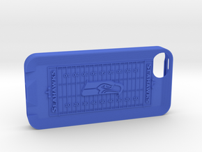 iPhone 5 Football SH in Blue Strong & Flexible Polished