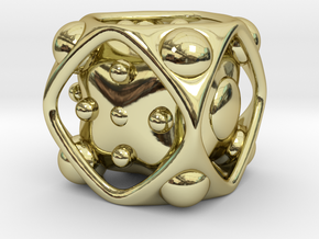 Dice No.2 S (balanced) (1.9cm/0.75in) in 18K Gold Plated