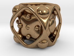 Dice No.2 S (balanced) (1.9cm/0.75in) in Natural Brass