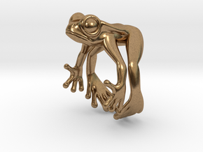 Frog Ring v2 15mm in Natural Brass