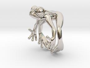 Frog Ring v2 15mm in Rhodium Plated Brass