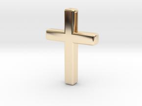 Cross Cube 35-25-5 in 14K Yellow Gold