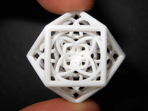 flower cube03 x2 p in White Natural Versatile Plastic