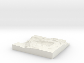 Upheaval Dome Crater Utah 4inch with base in White Natural Versatile Plastic