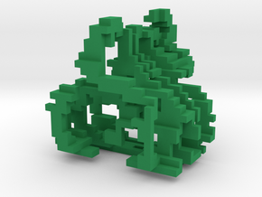 Little and Cubed Ornament in Green Strong & Flexible Polished