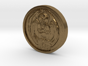 Cthulhu Coin in Natural Bronze