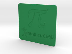 Xanthines PI Mug Mat in Green Strong & Flexible Polished