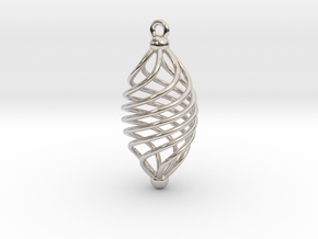 EARRING TWISTED in Rhodium Plated Brass