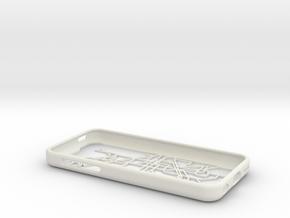 Barcelona Metro map iPhone 5c case in White Natural Versatile Plastic