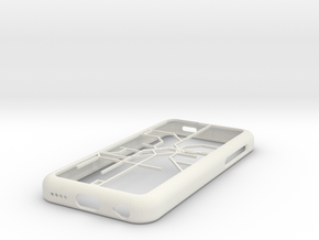 LA Metro Rail map iPhone 5c case in White Natural Versatile Plastic