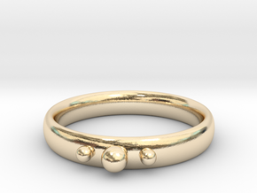 Ring with beads in 14K Yellow Gold
