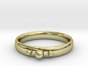 Ring with beads in 18k Gold Plated Brass