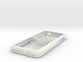 Moscow Metro map iPhone 5c case in White Strong & Flexible