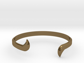 Thin Winged Cuff in Polished Bronze