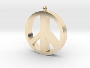 Peace Pendant in 14K Yellow Gold
