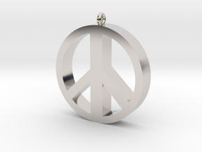 Peace Pendant in Platinum