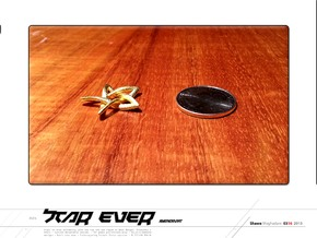 Star Ever Pendant in Polished Gold Steel