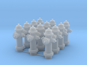 1/64 scale  Hydrant Set of 12 in Smooth Fine Detail Plastic