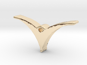 Bird pendant/necklace in 14k Gold Plated Brass