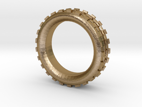 Mechawheel Ring - Size 7 in Polished Gold Steel