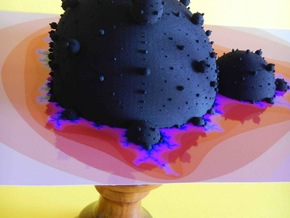 Mandelbrot 3D fractal in Black Strong & Flexible