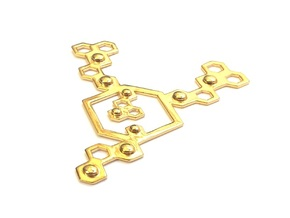 QeensNest pendant/necklace in 18k Gold Plated Brass