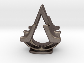 Assassins Creed Table Sculpture in Polished Bronzed Silver Steel