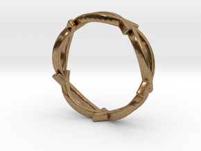 Jesus Fish Eternity Style Ring size 7 in Natural Brass