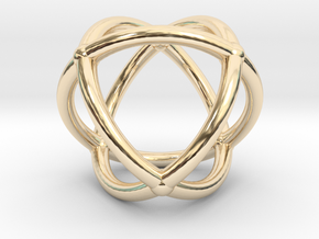 0072 Stereographic Polyhedra - Octahedron in 14K Yellow Gold