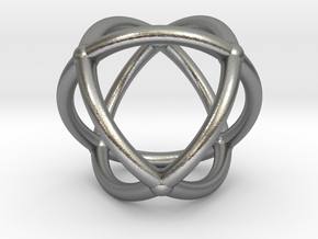0072 Stereographic Polyhedra - Octahedron in Natural Silver