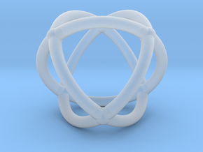 0072 Stereographic Polyhedra - Octahedron in Smooth Fine Detail Plastic