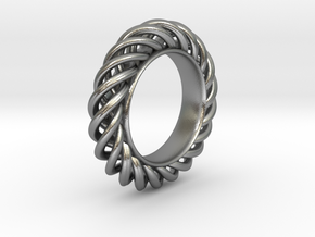 Spiral Ring Size 7 in Natural Silver