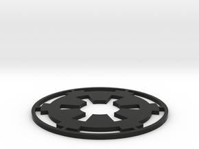 """Imperial Coaster - 4"""" in Black Natural Versatile Plastic"""
