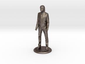 Paul McCartney 3D Figure in Polished Bronzed Silver Steel