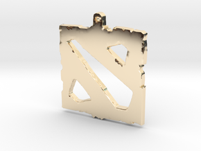 Dota 2 - Logo Pendant in 14K Yellow Gold