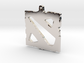 Dota 2 - Logo Pendant in Platinum