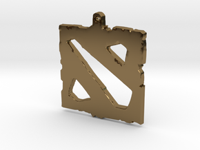 Dota 2 - Logo Pendant in Polished Bronze
