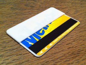MTA New York Subway Metrocard Holder in White Strong & Flexible