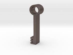 Key in Polished Bronzed Silver Steel