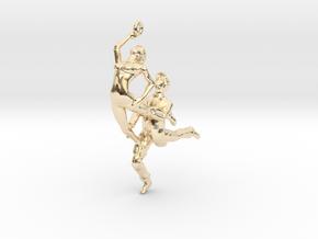 Dance LOVE Pendant-Earring in 14k Gold Plated Brass
