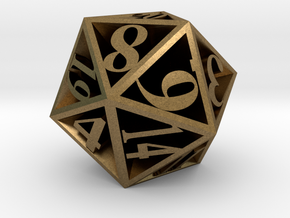20 Sided Die in Natural Bronze
