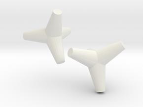 Tetrapod (1.5 Inch) 2 in White Natural Versatile Plastic