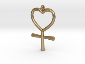 Venus Charm in Polished Gold Steel