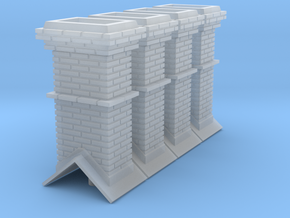 HO Booking Station Chimneys in Smooth Fine Detail Plastic